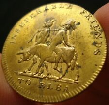 1814 Napoleon on Ass with Devil Token Medal SUPER NICE