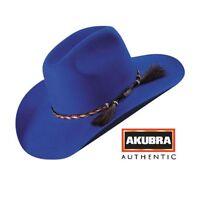 Akubra Rough Rider Hat - Electric Blue - New Colour - Australian Made !