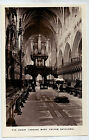 C4769cgt UK Exeter Cathedral The Choir West Vintage Postcard