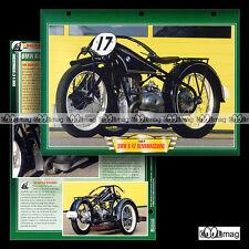 #144.09 Fiche Moto BMW R 47 RENNMASCHINE 1927-1928 Racing Motorcycle Card