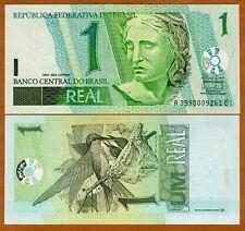 Brazil, 1 Real (2003-), P-251, UNC > Birds