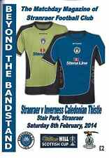 Stranraer v Inverness Caledonian Thistle 08/02/14 + Team Sheet - Scottish Cup
