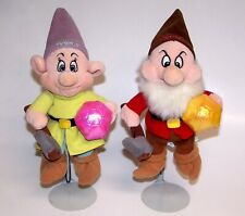 "Disney Dopey and Grumpy Stuffed Approx 6"" Dolls"