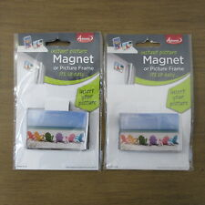 """Adventa Instant Picture Magnet Or Picture Frame 3"""" x 2"""" (Set of 2) DIY"""