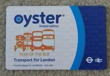 """2014 OYSTER CARD """"YEAR OF  THE BUS"""" - COLLECTABLE ITEM"""