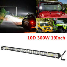 "10D 19"" Slim 40Led Light Bar Flood Combo LED Work Light Car Truck Driving Light"