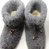 SHEEP WOOL MERINO COZY FOOT SHEEPSKIN SLIPPERS BOOTS size(Men's):7,8,9,10,11,12