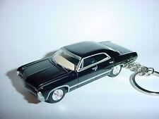 NEW 3D BLACK SUPERNATURAL 1967 CHEVROLET IMPALA CUSTOM KEYCHAIN keyring key