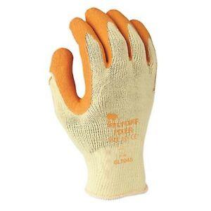 multi-grip orange latex gloves general purpose work gloves