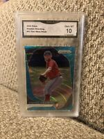 Stephen Strasburg Teal Wave Refractor 2020 Prizm Graded 10 Washington Nationals