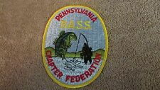 """Pennsylvania B.A.S.S. Chapter Federation Patch - 3 3/4"""" x 5"""" (G 30)"""