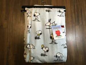 NEW Snoopy Peanuts Light Blue Decorative Home Throw Collection
