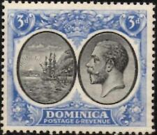 Dominica 1923 George V  3d Black & Ultramarine  SG.79  Mint (Hinged)