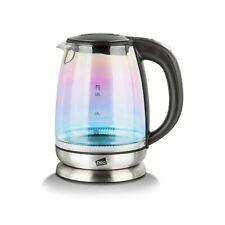 Neo Iridescent Rainbow LED Illuminated Electric Glass Kettle 1.7L Cordless