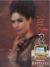 ▬► PUBLICITE ADVERTISING AD Parfum Perfume RAPHAEL Réplique 1957