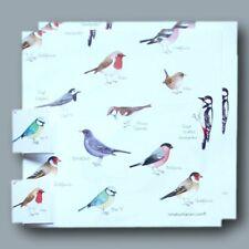 Garden-Birds Gift Wrap 2 SHEETS 2 TAGS IONA BUCHANAN BIRD HIGH QUALITY FREE P&P