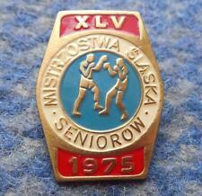 XLV th POLAND district SILESIA CHAMPIONSHIPS BOXING 1975 PIN BADGE