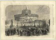 1866 The French Garrison Evacuating The Castle Of St Angelo Rome