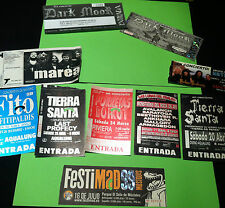 LOTE 10 ENTRADAS CONCIERTOS ESPAÑA ROCK HEAVY METALLICA MAIDEN MAREA TIERRASANTA