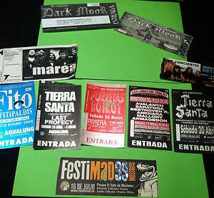 LOTE 10 ENTRADAS CONCIERTOS SPAIN ROCK HEAVY METALLICA MAIDEN MAREA TIERRASANTA