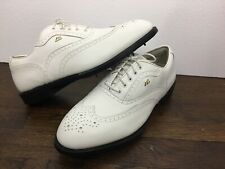 Mizuno McMasters White Leather Golf Spike Shoes Cleats 9857 Size 10 W