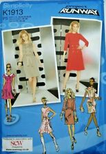 Simplicity K1913 Project Runway Ladies Sewing Pattern Fitted Dress 12-20US