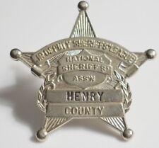 Toy Badge Henry County Child Jr Deputy Sheriffs League