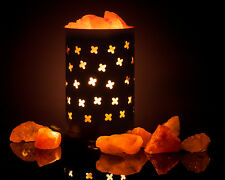 mockins Himalayan Salt Lamp Cylinder Basket With Salt Chunks