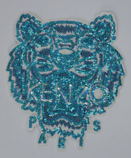 Sequin Patch: Cyan KENZO Tiger