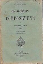 TEMI ED ESERCIZI DI COMPOSIZIONE CON MODELLO D ANALISI Parascandolo Rispoli 1892