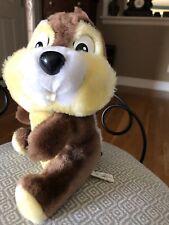 Vintage Disney Chip Plush Stuffed Animal Chip & Dale Chipmunk Disneyland World