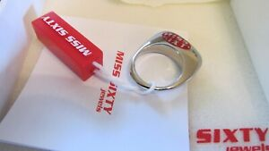 NEW Miss Sixty Designer Silver Stainless Steel Ring Sz7 NIB Well Crafted Signed