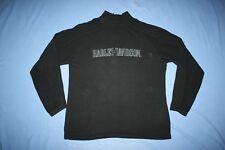 Harley-Davidson Men's Black 1/4 zip pullover black sweater L 103819
