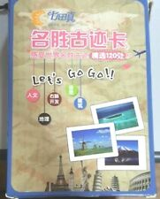 SHICHIDA FLASHCARD - Famous Places Flashcards excellent USED CONDITION