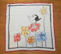 Moschino Cheap And Chic 100% Silk Scarf Olive Oyl 26 x 26 Square Made in Italy
