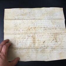 Manuscrit Parchemin XVIIè XVIIIè Acte Notarié Contenu À Déterminer 17thC 18thC
