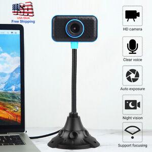 HD Web Cam Camera Webcam with Microphone USB 2.0 for Computer PC Laptop Desktop