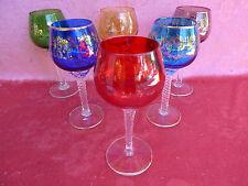 6 noble ,antiguo Copas de Vino__color__pieza chapada en oro__