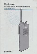 Instruction Manual Motorola Radius p50 Handie-Talkie Portable Radios