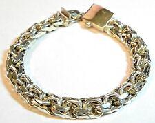"925 Sterling Silver Bracelet- Braided Design 9"" Length # I-2557 # 10"