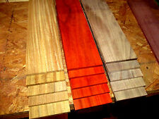 "15 PIECE MULTIPAK THIN EXOTIC AFRORMOSIA, PADAUK, WALNUT 12"" X 3"" X 1/4"""