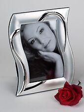 Moderner Fotorahmen Bilderrahmen silber Herz aus Aluminium 13x18 cm