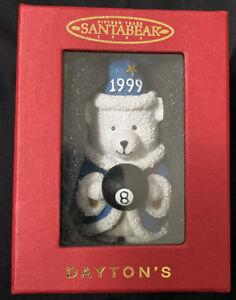 Dayton Hudson Santa Bear ornament 1999 Wizard with Box 8 BALL Billiard Xmas NEW