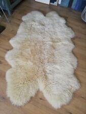 Top Quality Large quadruple (4 skins) thick pile heavy Sheepskin Rug
