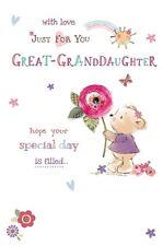 Birthday Card - Happy birthday Great Granddaughter - Wishing Well (B2)