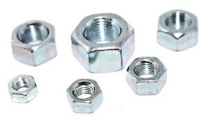 """Imperial Size Steel Nuts UNF BZP Hexagonal 3/16"""" 1/4"""" 5/16"""" 7/16"""" 1/2"""" 5/8"""" Zinc"""
