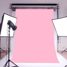 BABY PINK Vinyl Backdrop Photography Background studio Photo props Plain 5X7FT