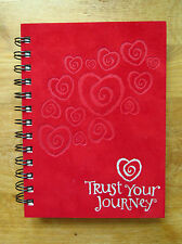 """Journal Trust Your Journey Red Cover 7"""" x 6""""  Wire Bound NEW"""