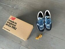 NEW BALANCE Sneakers Bleues & Blanches Cuir , Toile & Daim T/44 1/2 TBE Px 170€