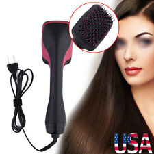 110V 2 in 1 Professional Hair Blow Dryer+ Hot Air Styler Curling Wand Comb Brush